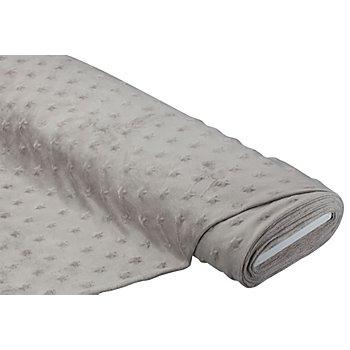 Tissu polaire 'Minky' avec noppes 'étoiles', taupe