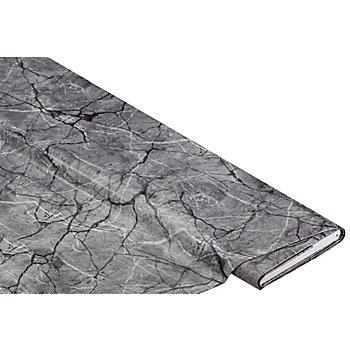 Abwaschbare Tischwäsche - Wachstuch 'Marmor', dunkelgrau