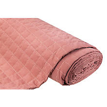Steppstoff mit Glitzergarn, rosa