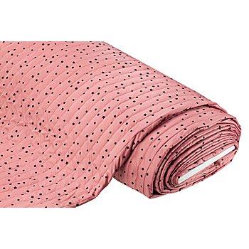 Steppstoff 'Sterne', rosa/schwarz