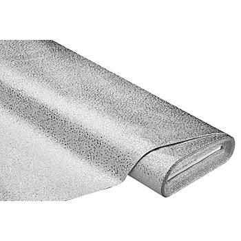 Glitzer-Lederimitat, silber