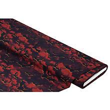 Tissu coton à impression numérique 'chauve-souris', noir/multicolore