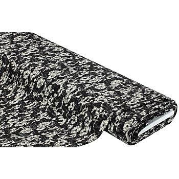 Tissu maille, blanc/noir