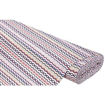 Baumwolljersey 'Modische Streifen' mit Elasthan, rosa-color