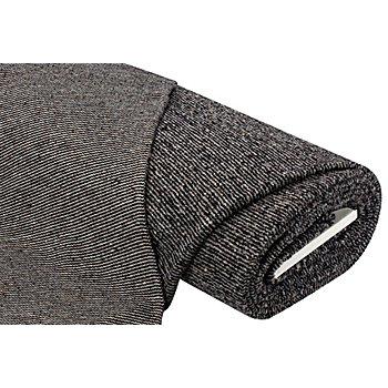 Strickstoff mit Wolle, grau/schwarz