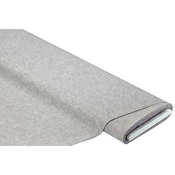 Leinen-Baumwoll-Gewebe, grau-meliert