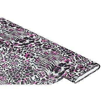 Chiffon 'Leo', pink/schwarz