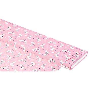 Baumwollstoff Lama 'Bella', rosa-color