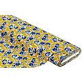 """Tissu jersey en coton """"fleurs"""" avec de l'élasthanne, ocre multicolore"""