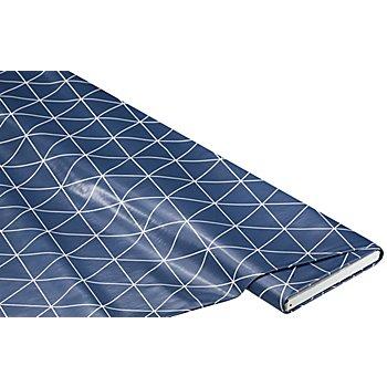 Abwaschbare Tischwäsche - Wachstuch 'Dreieck', marine