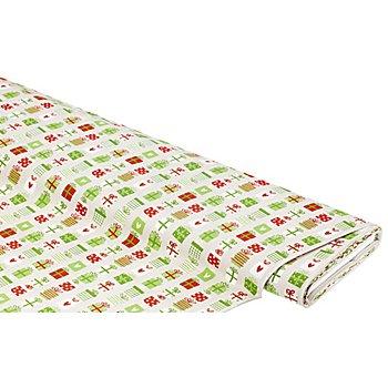 Baumwollstoff Geschenke 'Bella', grün-color