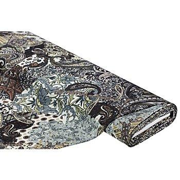 Feinstrick 'Paisley', braun-color