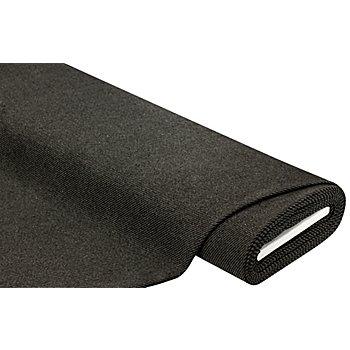 Tissu laine 'rayures', gris/noir