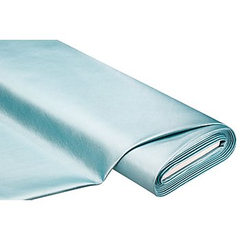Imitation cuir nappa 'métallique', turquoise
