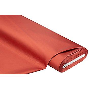 Nappaleder-Imitat 'Metallic', rot