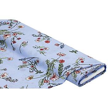 Crêpe 'Floral', hellblau-color