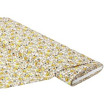 Blusenstoff 'Blumen', offwhite-color
