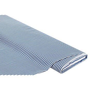 Tissu javanaise 'rayures', bleu/blanc