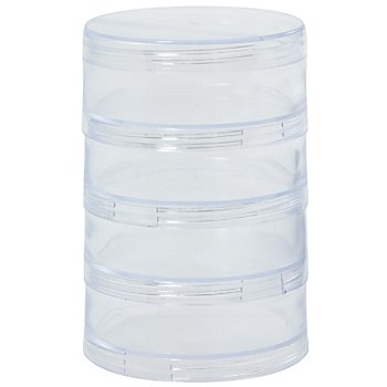 Prym Boîtes à empiler, dim. : 70 mm Ø, hauteur : 10 cm, contenu : 4 pièces