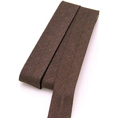 Image of buttinette Baumwoll-Schrägband, dunkelbraun, Breite: 2 cm, Länge: 5 m