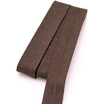 buttinette Baumwoll-Schrägband, dunkelbraun, Breite: 2 cm, Länge: 5 m