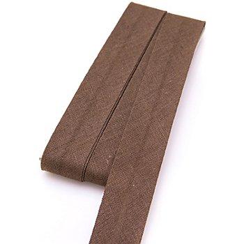 buttinette Baumwoll-Schrägband, braun, Breite: 2 cm, Länge: 5 m