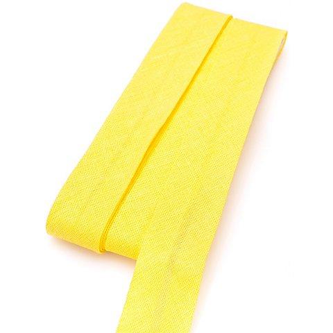 Image of buttinette Baumwoll-Schrägband, gelb, Breite: 2 cm, Länge: 5 m