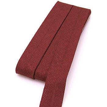 buttinette Baumwoll-Schrägband, bordeaux, Breite: 2 cm, Länge: 5 m