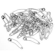 buttinette Sicherheitsnadeln, gebogen, Länge: 38 mm, Inhalt: 100 Stück