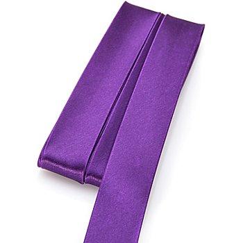 buttinette Biais en satin, violet, 2 cm, 5 m