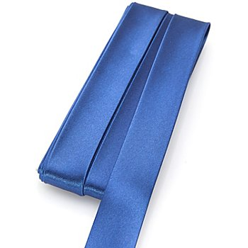 buttinette Biais en satin, bleu roi, 2 cm, 5 m