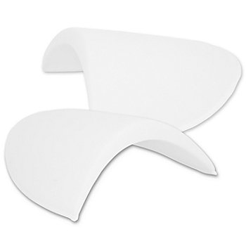 Epaulettes demi-lune, blanc, 130 x 175 x 13 mm