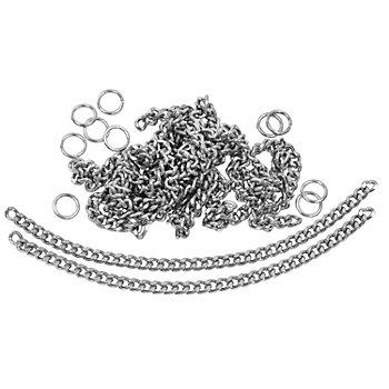 buttinette Kettchen aus Metall, Länge: 10 cm, Inhalt: 10 Stück
