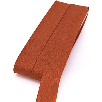 buttinette Baumwoll-Schrägband, terrakotta, Breite: 2 cm, Länge: 5 m