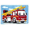 """Knüpfteppich """"Feuerwehr"""" 70 x 45 cm"""