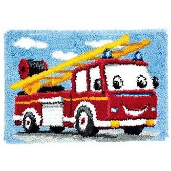 Knüpfteppich 'Feuerwehr' 70 x 45 cm