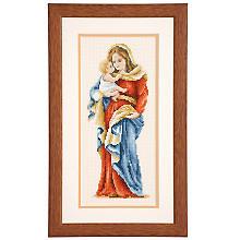 Kreuzstichbild 'Madonna', 13 x 28 cm
