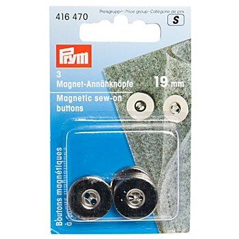 Prym Fermoirs magnétiques, Ø 19 mm, 3 pièces