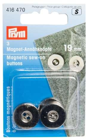 Prym Fermoir magntique 19 mm Argent