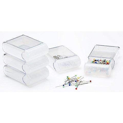 Image of buttinette Aufbewahrungsboxen, Grösse: 4,5 x 7,5 x 2,5 cm, Inhalt: 5 Stück