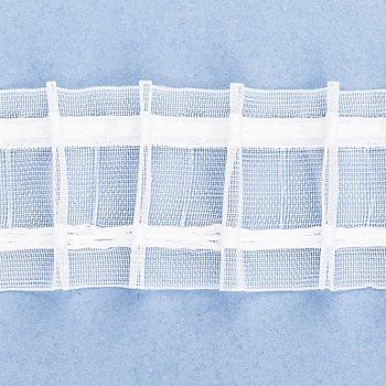 buttinette Ruban fronceur tubulaire à plis crayon, transparent, 5 cm, 10 m