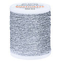 "buttinette Sticktwist ""Metallic"", silber, 50 m"