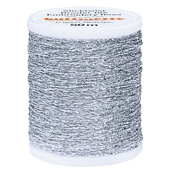 buttinette Sticktwist 'Metallic', silber, 50 m