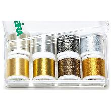MADEIRA Stickgarn Metallic 'Gold und Silber', Inhalt: 8 Spulen