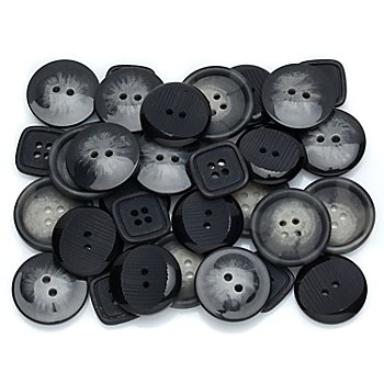 buttinette Boutons standard, 17 - 20 mm, 32 pièces