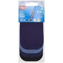 Prym Jeans-Patches Mini, Größe: 8 x 6 cm, Farbe: jeans/dunkelblau/marine, Inhalt: 4 Paar