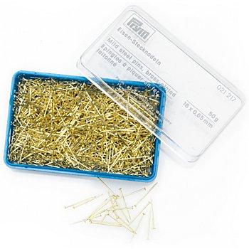 Prym Eisenstecknadeln, gold, Länge: 16 mm, Inhalt: 50g = ca. 1000 Stück