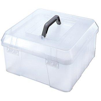 buttinette Boîte de rangement en plastique, 31 x 31 x 17 cm