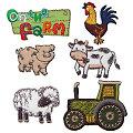 "Prym Applikationen ""On the Farm"", Grösse: 2,5 - 4,5 cm, Inhalt: 6 Stück"