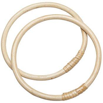 Taschengriffe aus Bambus, 17 cm Ø, 1 Paar